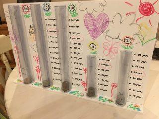 アイデア貯金箱♪【貯まったお金が見えるタワー型貯金箱】を作ってみよう♪夏休みの工作に個性たっぷりの手作り貯金箱を作る方法。