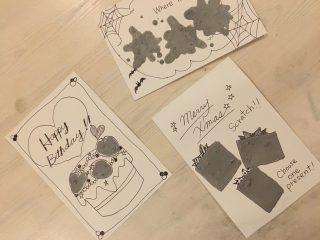 スクラッチカードの作り方♪削って遊べる子供たちが喜ぶカードを家で手作りしてみよう♪クリスマスやハロウィンのカード作りにも♪子供たちと100均工作♪