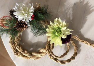 100均DIY♪簡単おしゃれな【正月飾り,しめ縄リースの作り方】ダイソーの紙紐でわら要らずなのに本物みたい!全部100均の材料で手作りできちゃう♪