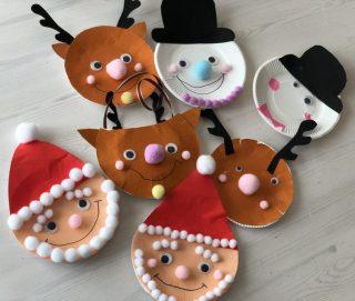 子供と100均クリスマス工作♪紙皿と折り紙で作る【簡単クリスマスオーナメントとギフトバックの作り方♪】クリスマスパーティーのお土産や英語教室のクラフトタイムにおすすめ♪